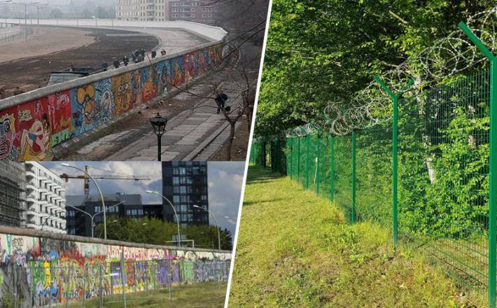 Berlinski zid in panelna ograja