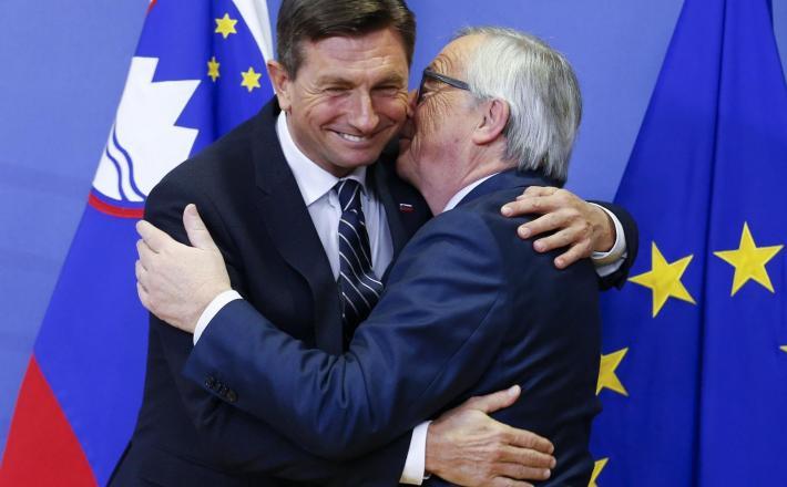 Borut Pahor in njegov prijatelj Jean Claude Juncker Vir:Pixell