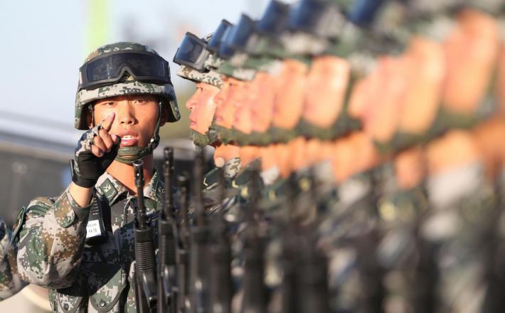 Kitajska Armada - parada, Peking 2017 Vir:Pixell