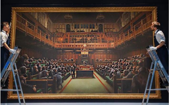 Banksy - Devolving Parliament