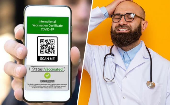 PCT aplikacija in zdravnik  Vir: Freepik