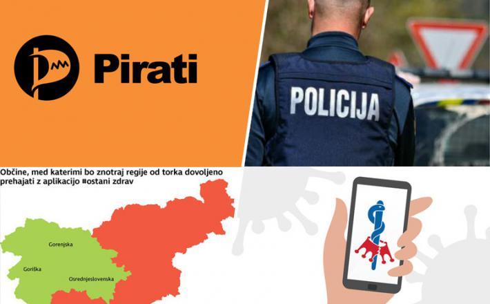 Pirati, policija in neustavna zahteva po obveznem nalaganju prostovoljne aplikacije