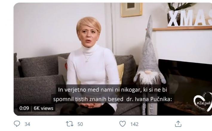 Aleksandra Pivec hvali dr. Ivana Pučnika