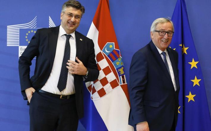 Andrej Plenković in Jean Claude Juncker Vir: Pixell