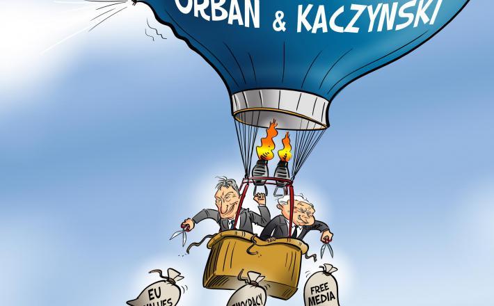 Orbán, Kaczyński in odmetavanje odvečnega tovora...