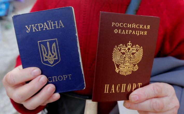 Potna lista Ukrajine in Rusije   Vir:RT