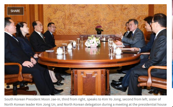 Povabilo delegacije Severne Koreje predsedniku Južne Koreje/ Sydney Morning Herald