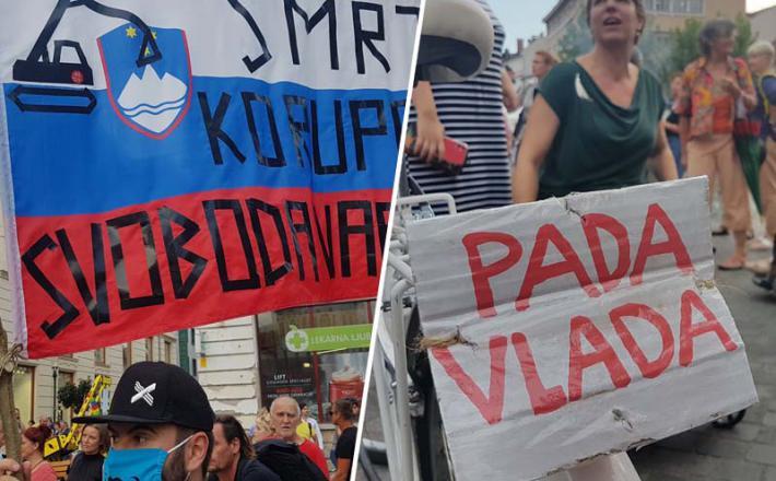 Devetnajsti protesti v Ljubljani