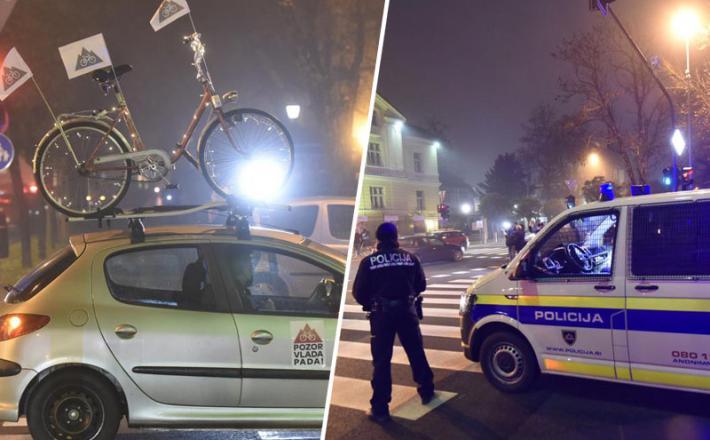 Policijo sedaj moti že protestna vožnja