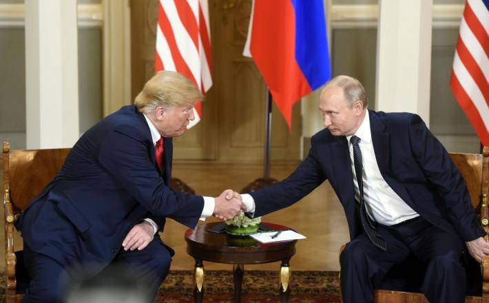 Putin in Trump - Finska Vir:Pixell