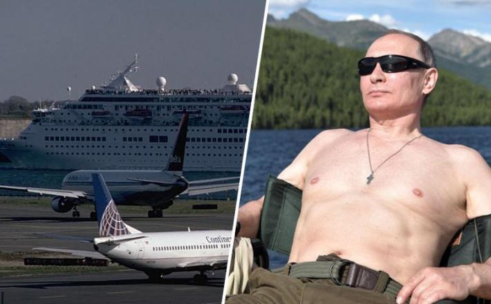 Putin in letališče    Vir:Insajder