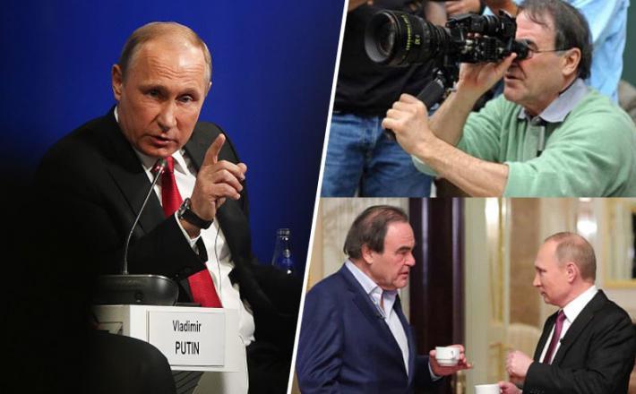 Režiser Oliver Stone in Vladimir Putin