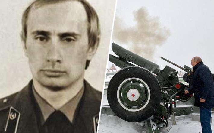 Putin kot topničar