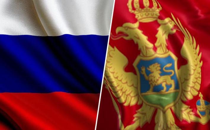 Rusija in Črna gora zastava