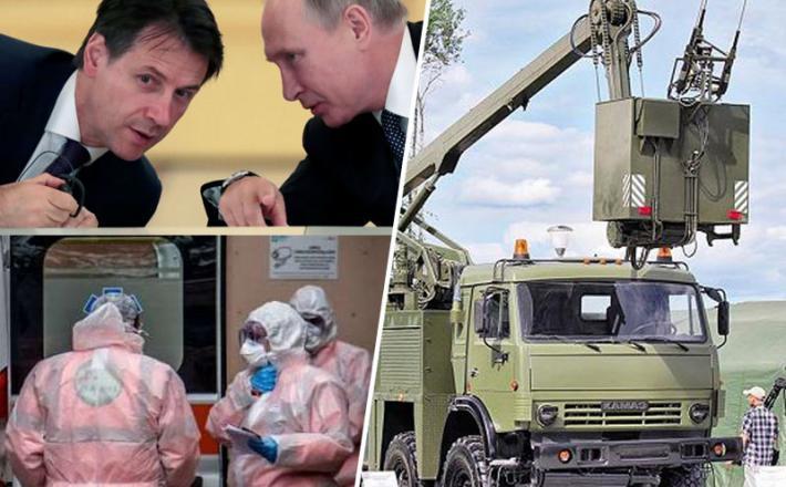 Ruska pomoč Italiji ob epidemiji koronavirusa