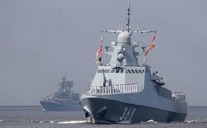 Ruske ladje v Črnem morju  Vir:Twitter