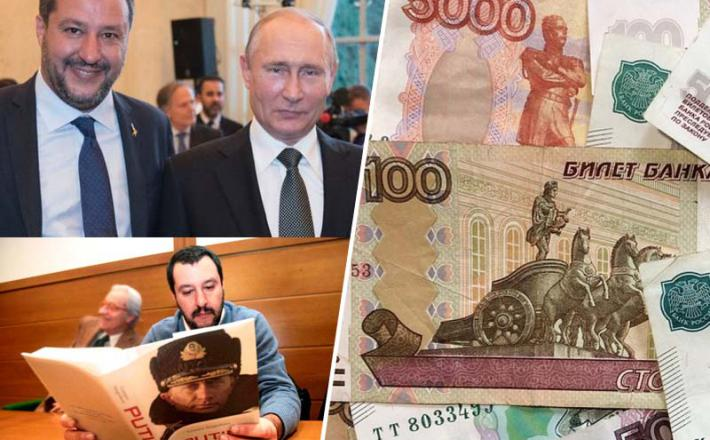 Salvini, Putin in rublji