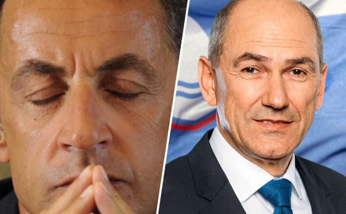 Sarkozy in Janša