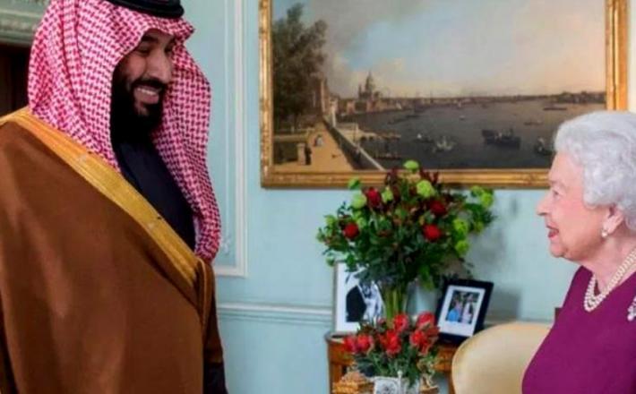Mohamed bin Salman pri kraljici Elizabeti