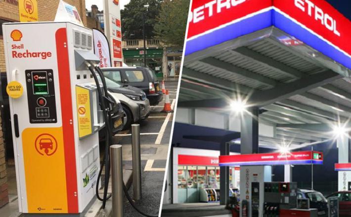 Shell in Petrol - elektro in samo bencnske polnilnice