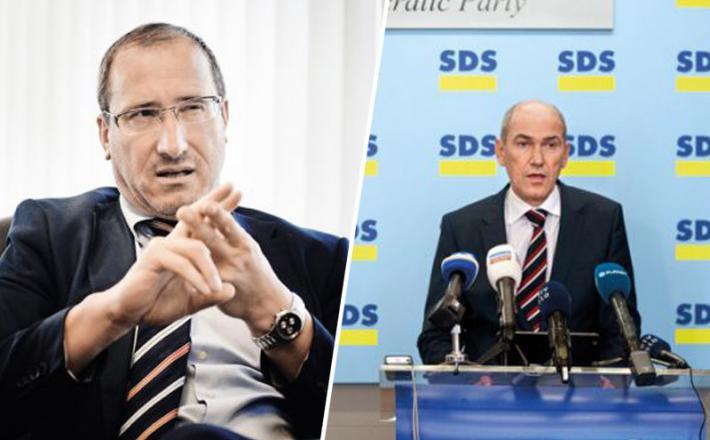 Drago Šketa in Janez Janša