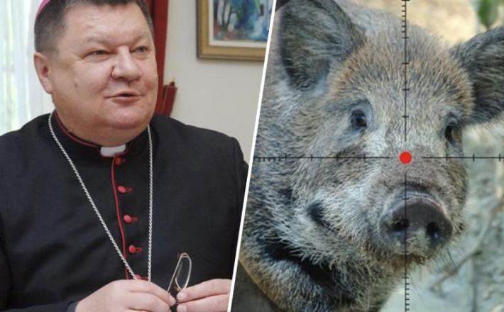 Škof Huzjak in divja svinja