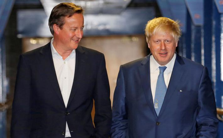 Cameron in Johnson  Vir:Sky News