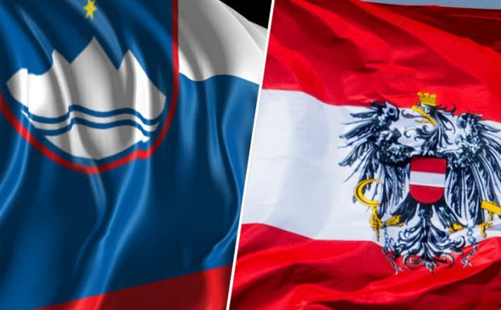 Slovenija / Avstrija zastava