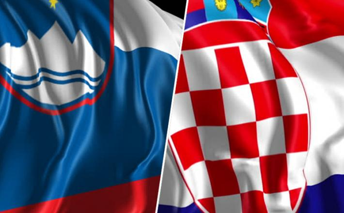 Slovenija / Hrvaška zastava