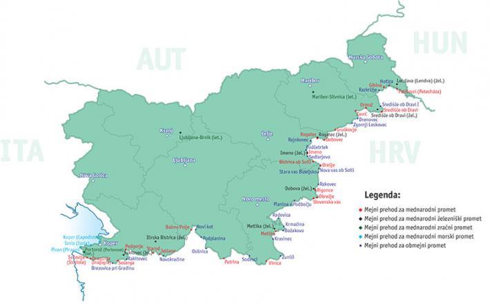 Slovenski mejni prehodi z Hrvaško