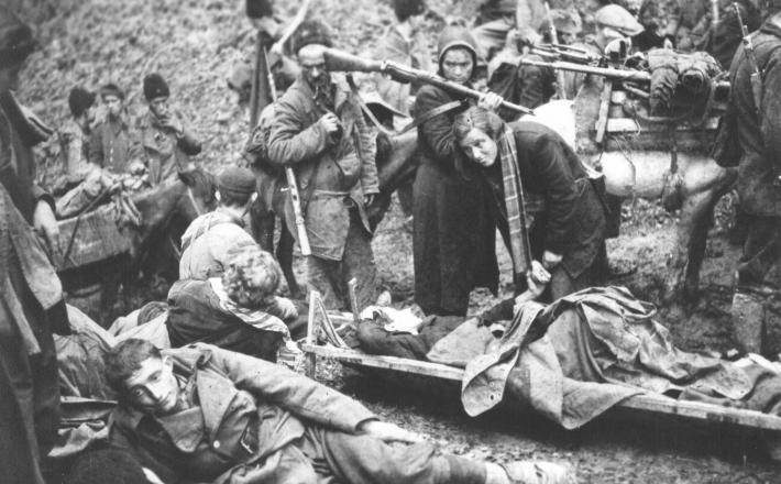 Ranjeni partizani v bitki za Sutjesko