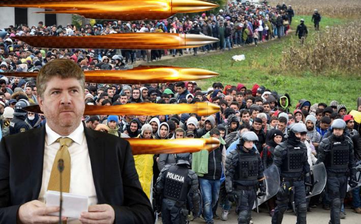 Svetlič je za krogle - ko je treba braniti državo - pred migranti...