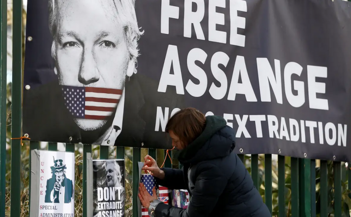 Svoboda za Juliana Assangea. Vir: Twitter
