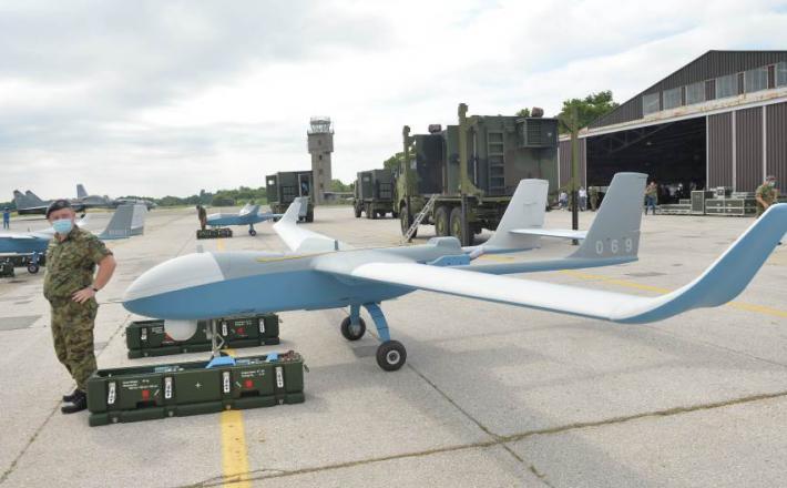 Kitajski dron v Srbiji  Tanjug, Twitter
