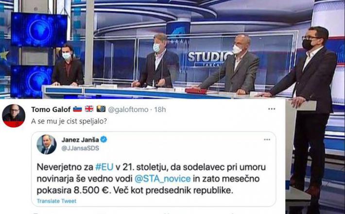 Tarča in Janšev tvit o umoru Meška