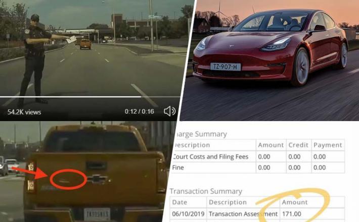 Avto Tesla 3 je dokazal, da je imel voznik vključen smernik