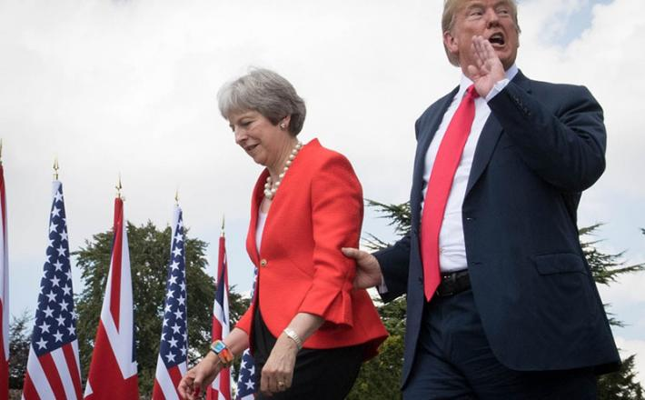Theres May in Donald Trump