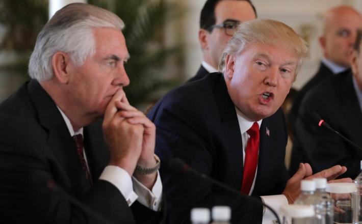 Tillerson in Trump