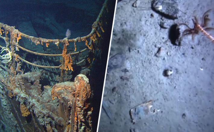 Titanik - posnetki z dna