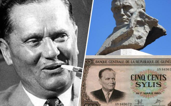 Tito na bankovcu in spomenik v Alžiru - po svetu jih je še veliko