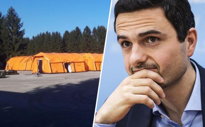 Tonin in šotor