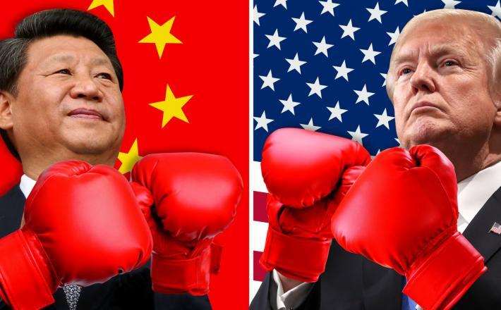 Trump in Xi »boksata«   Vir: Axios