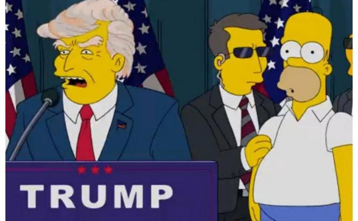 """Trump v seriji Simpsonovi: """"Amerika, ti boš moja bivša žena."""""""