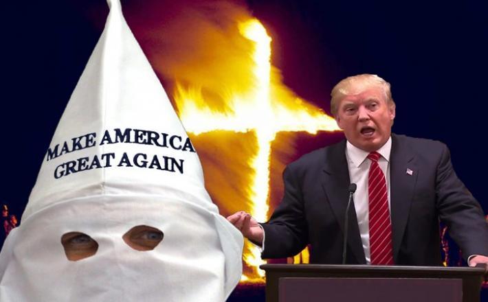 Trump in KKK   Vir: http://www.chaunceydevega.com/