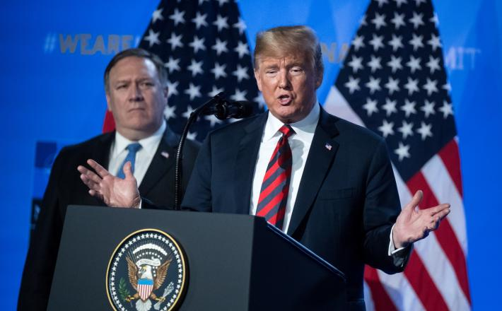 Donald Trump in Mike Pompeo Vir: Pixell