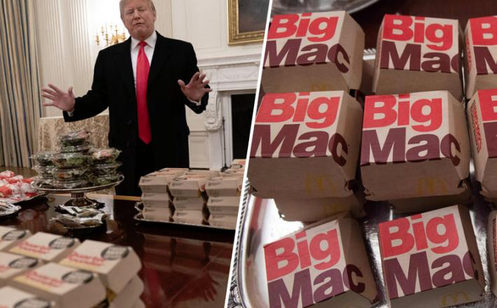 Trump in hamburgerji