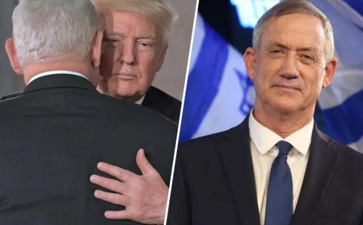 Trump, Ganc in Netanjahu