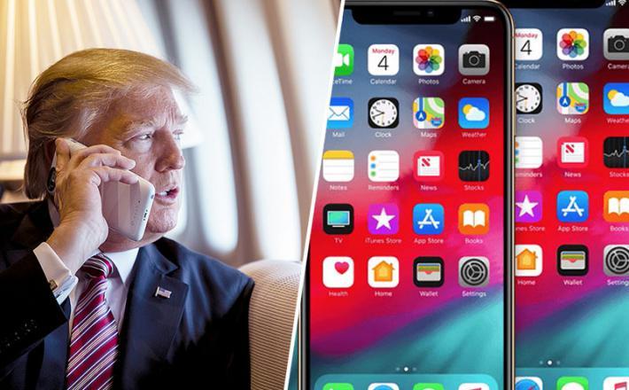 Trump in iPhone