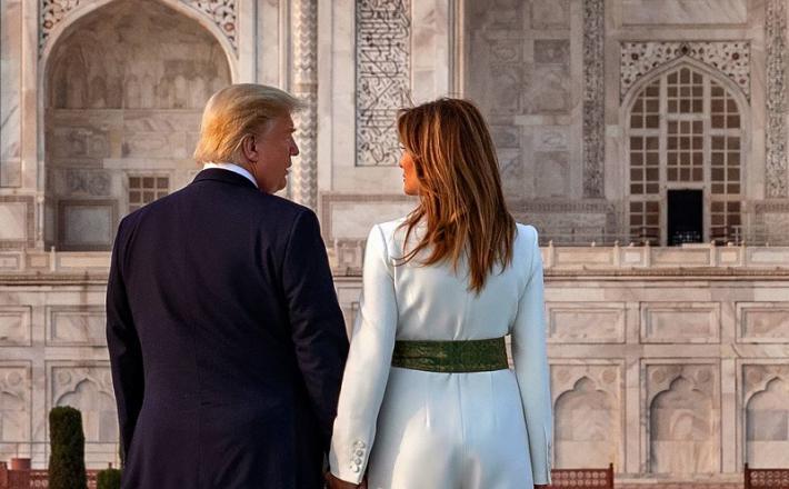 Kako si ju bo zgodovina zapomnila? Nekdanji predsednik ZDA in nekdanja prva dama. Vir: Twitter