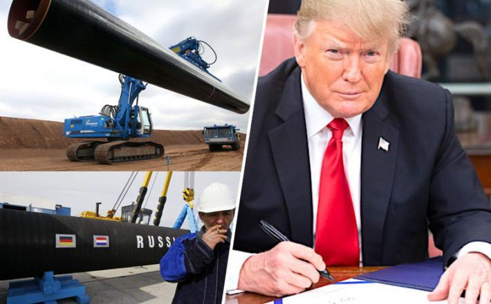 Trump poskuša s sankcijami ustaviti Severni tok 2 in Turški tok